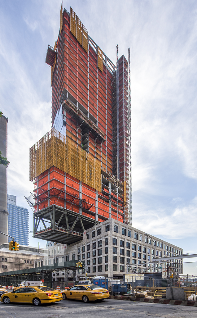Construction of One West End, at 1 West End Avenue. Photo by Tectonic