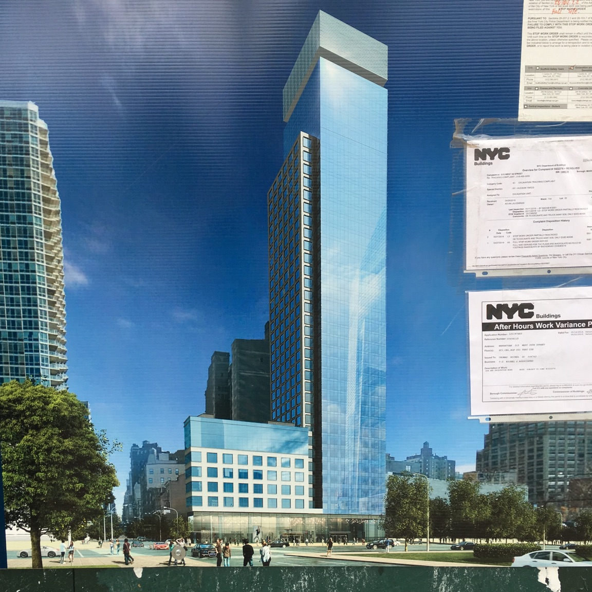 515 West 36th Street construction rendering