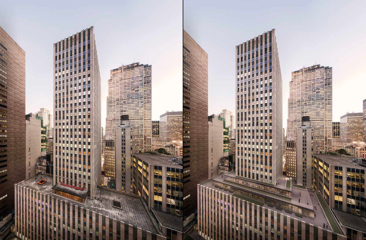 75 Rockefeller Plaza, current and proposed