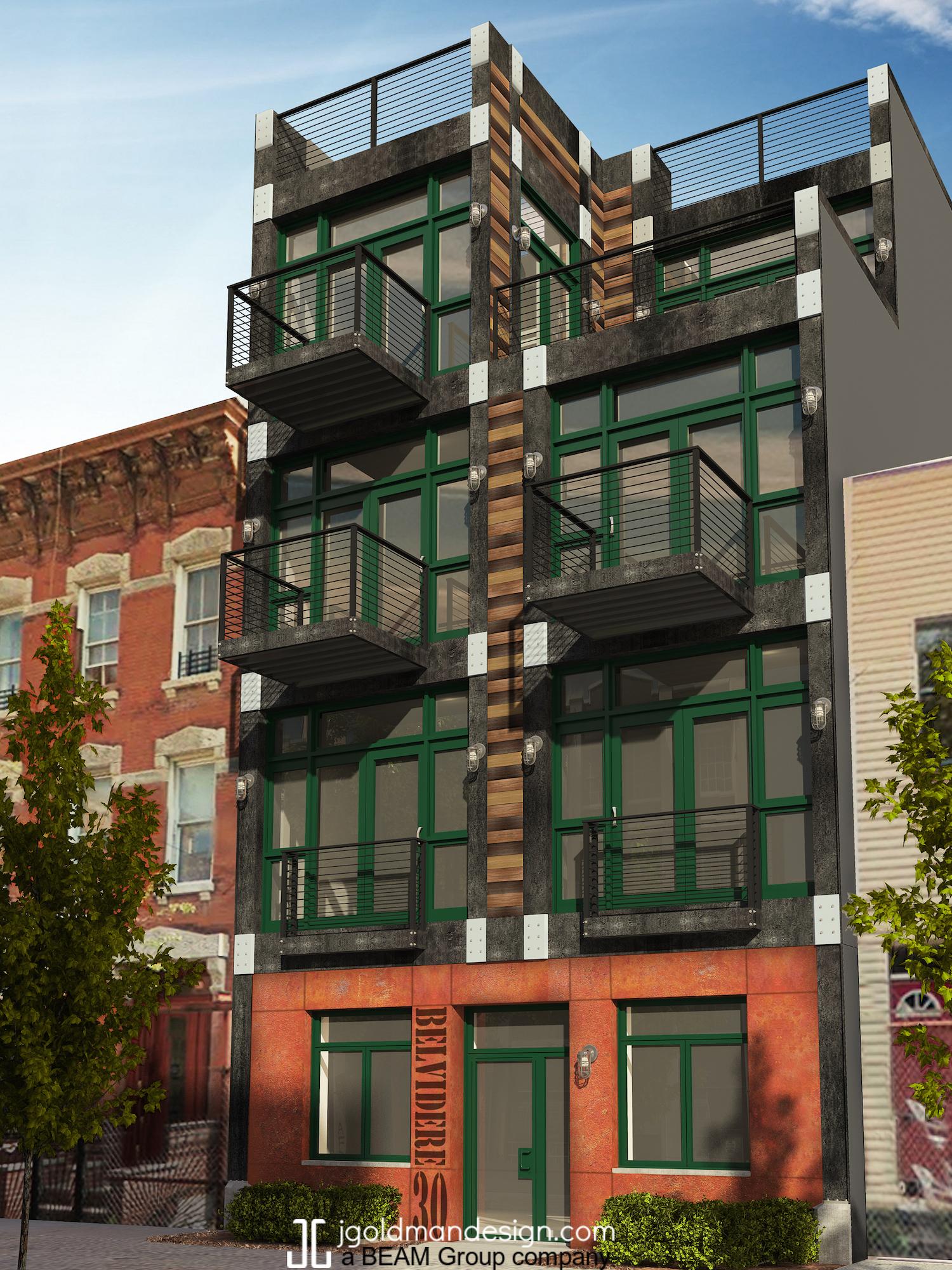 30 Belvedere Street, rendering by BEAM Group/ J Goodman Design