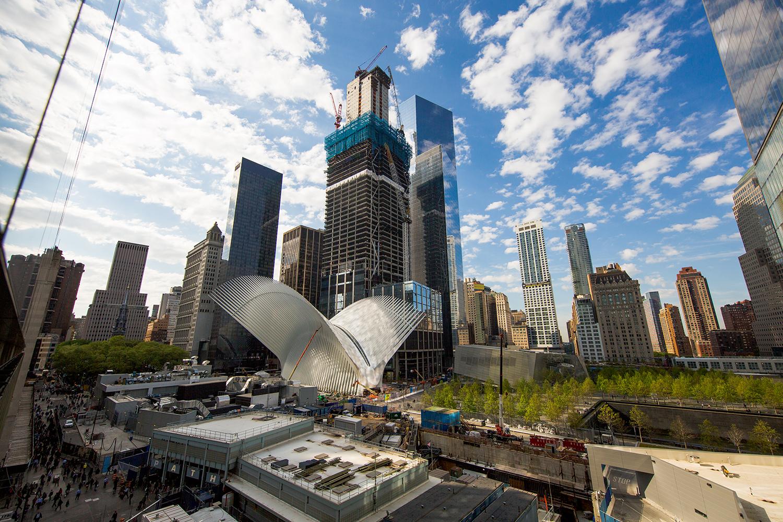 The World Trade Center Transportation Hub, 3 World Trade Center, and 4 World Trade Center. Credit: Joe Woolhead