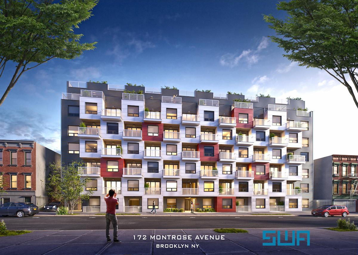 172 Montrose Avenue, rendering by Samuel Weider + Associates