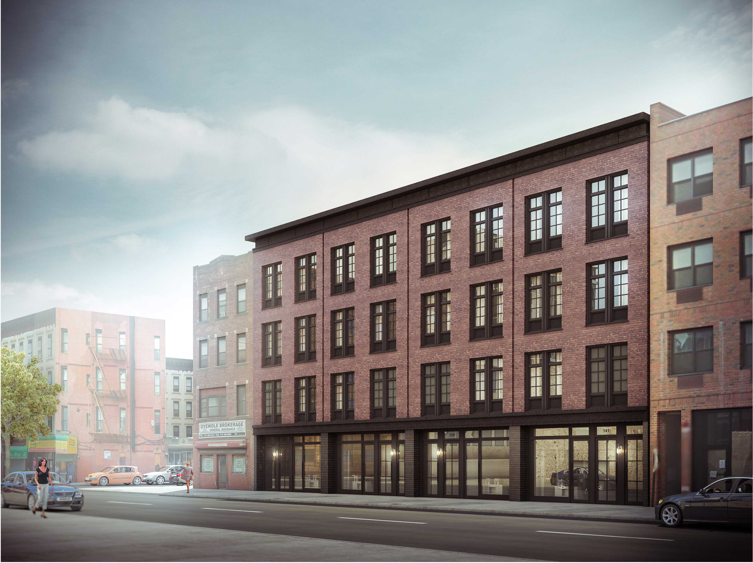 335-341 Nostrand Avenue, rendering by Issac and Stern Architects