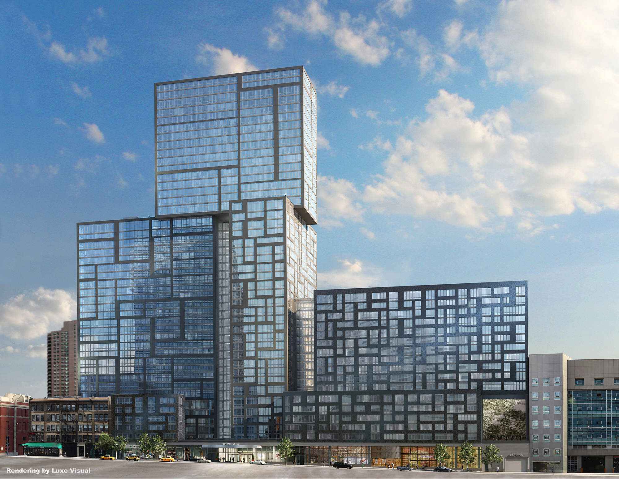 Rendering of 606 West 57th Street. Via SLCE Architects