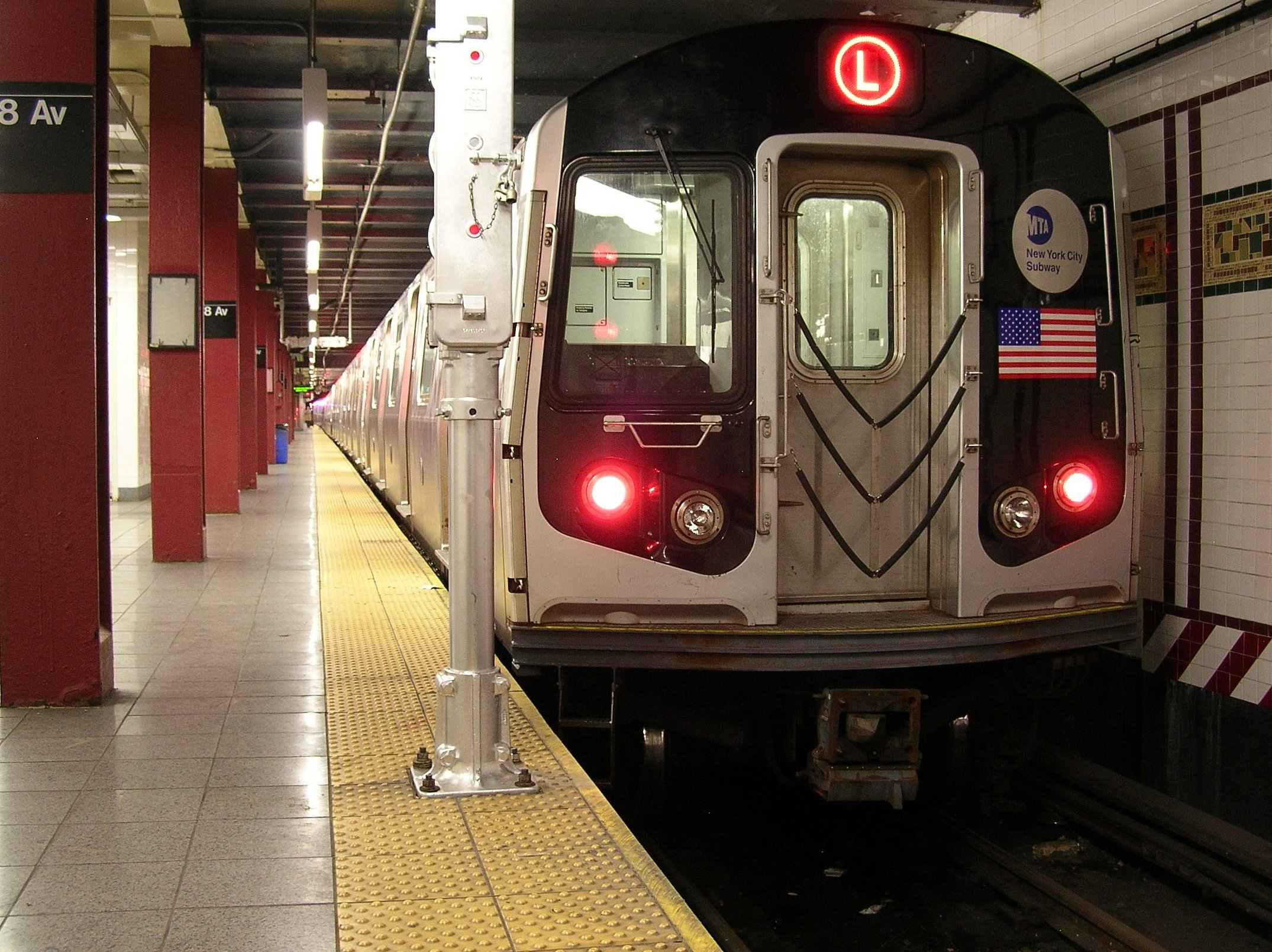 L Train at Eighth Avenue in Manhattan. Credit: Stephen Rees/Flickr