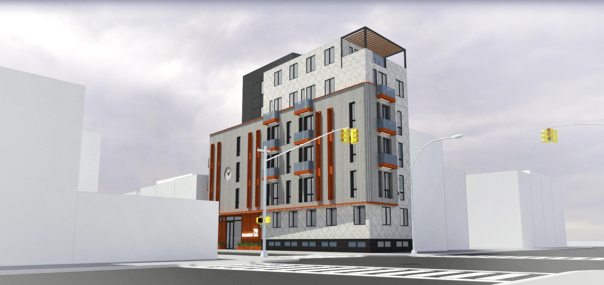 70 Bushwick Avenue, rendering by Input Creative Studio