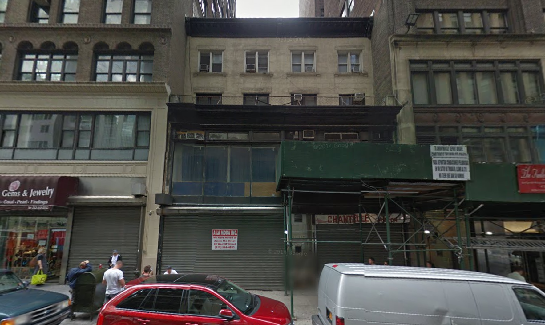 44 West 37th Street in October 2014, image via Google Maps