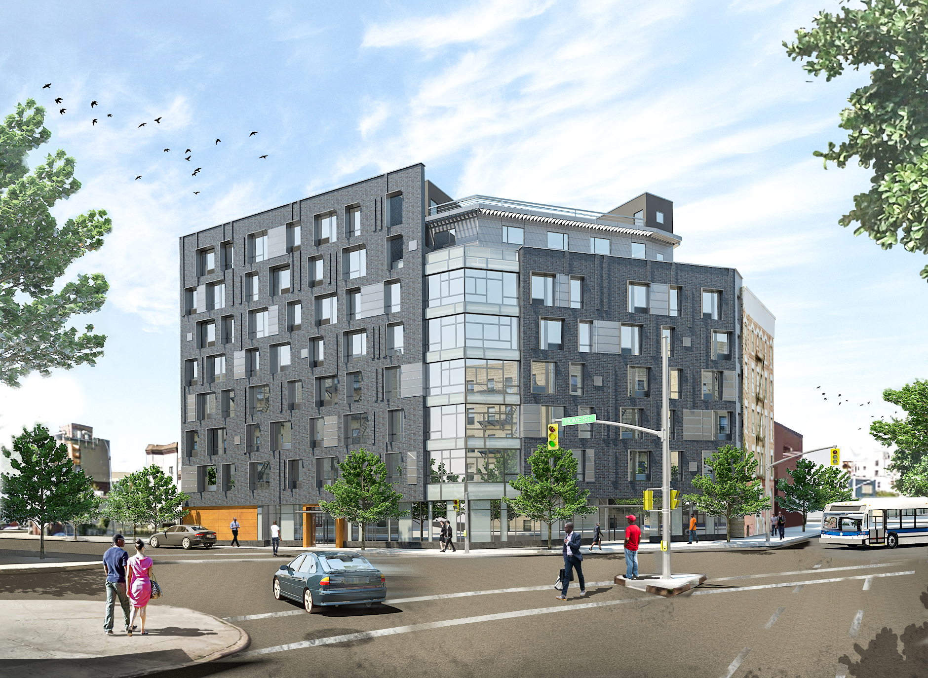 1017 Home Street, rendering by Body Lawson Associates