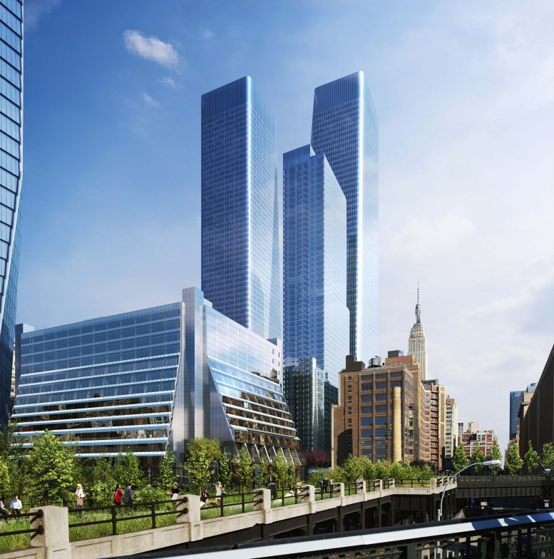 Rendering of Manhattan West as seen from the High Line