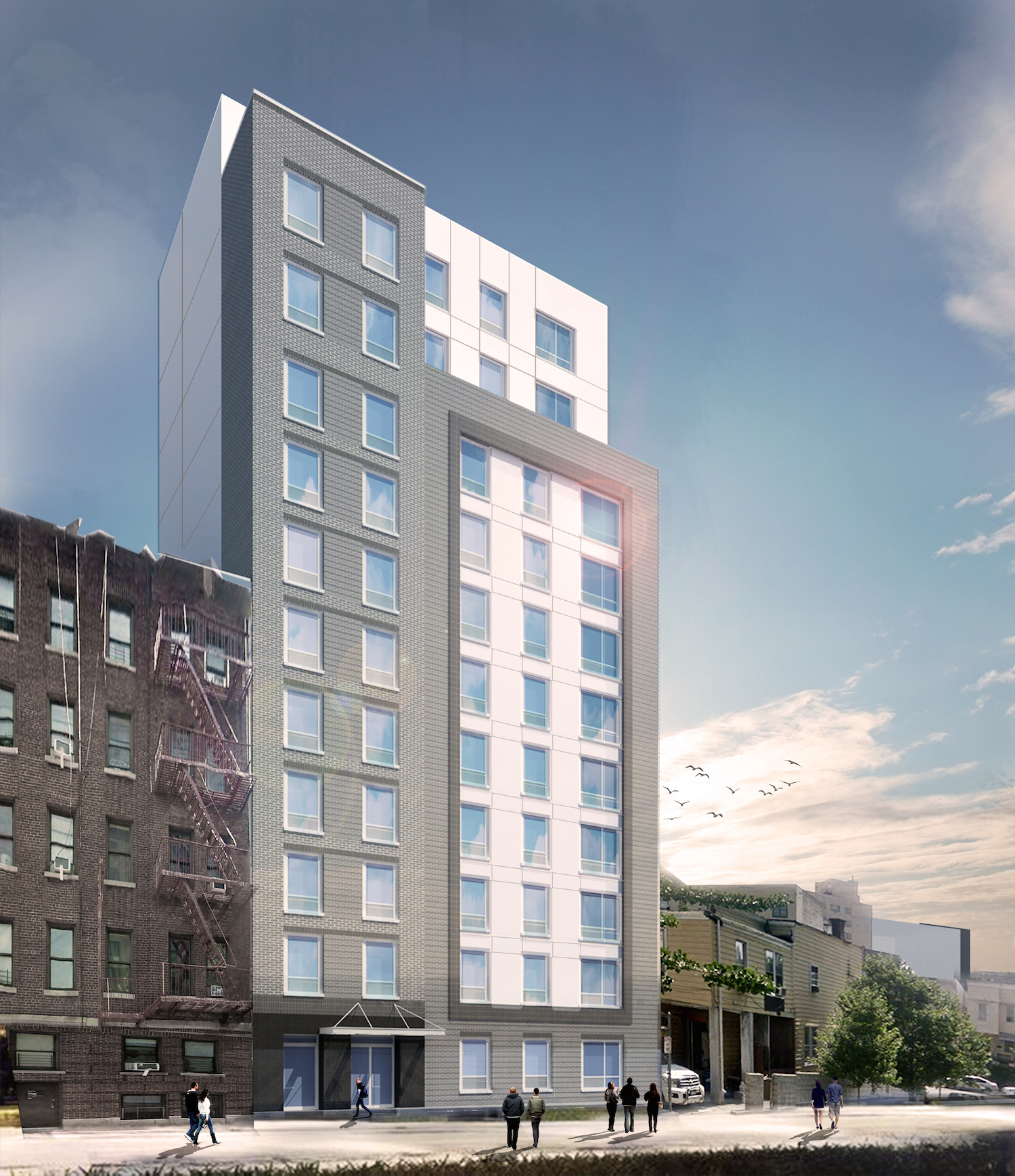 225 East 179th Street, rendering by GF55