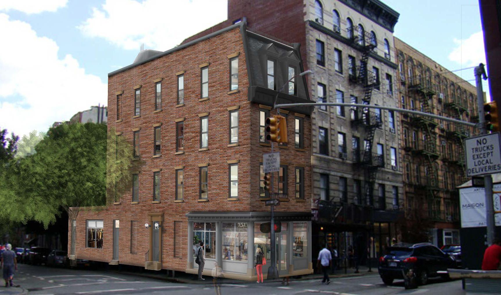Current proposal for 327 Bleecker Street