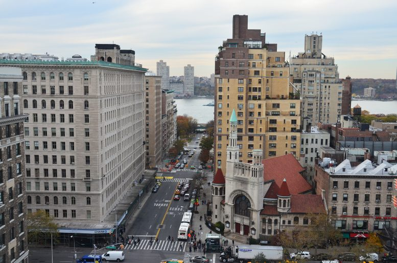 Looking down West 79th Street towards the Hudson River from the top of 207W79. All photos by Evan Bindelglass