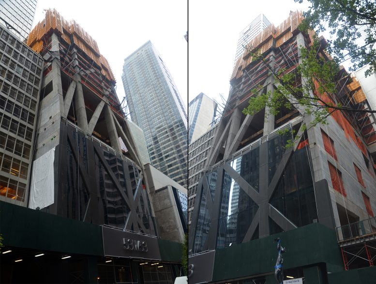 Construction on the 53rd Street side of 53W53. All photos by Evan Bindelglass unless noted