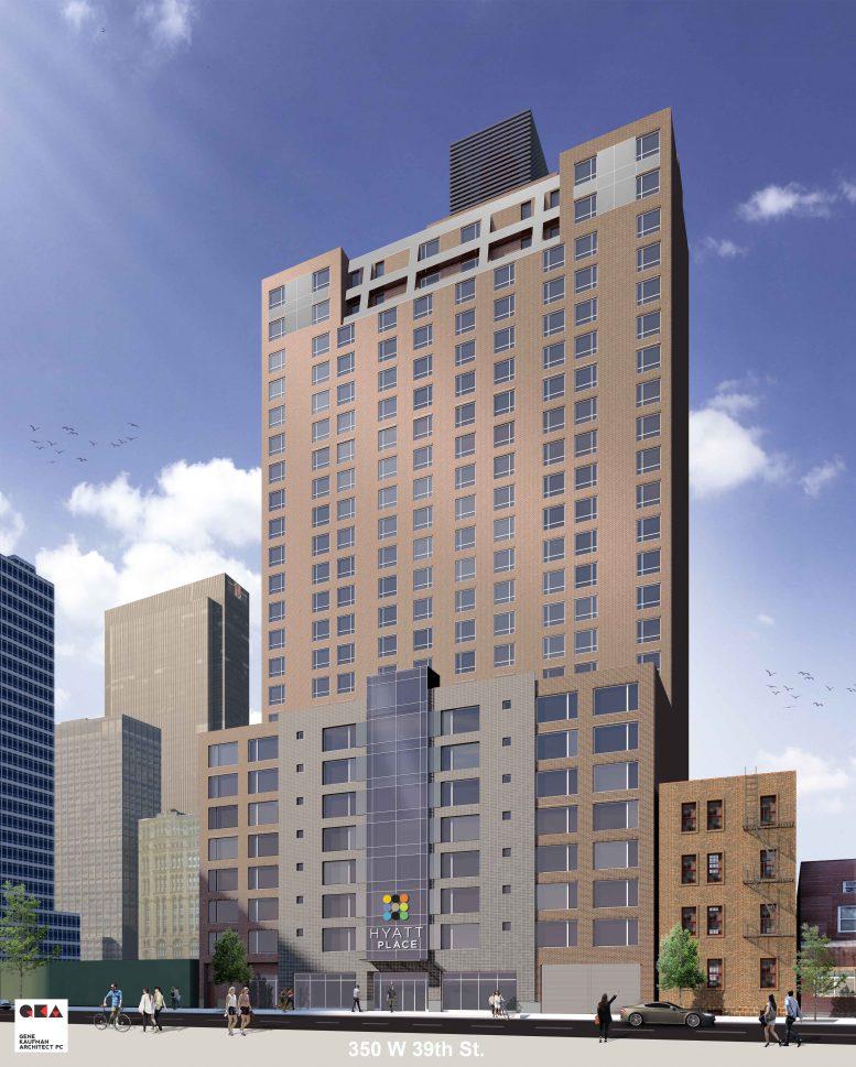 350 West 39th Street, rendering by Gene Kaufman Architect
