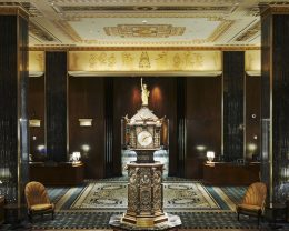 Clock at the Waldorf Astoria New York Hotel. Credit: Hilton Worldwide