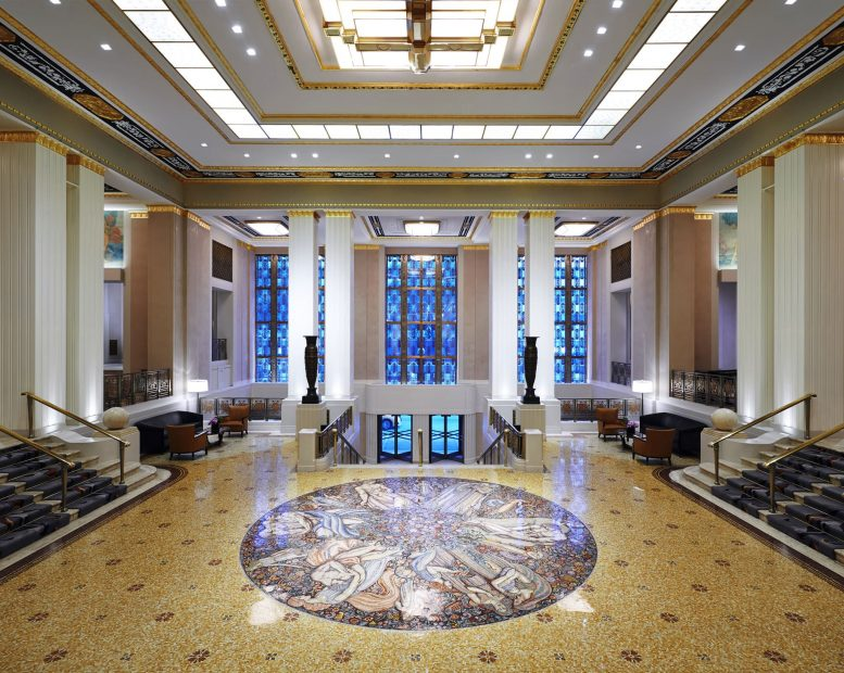 Park Avenue lobby of the Waldorf-Astoria Hotel. Credit: Hilton Worldwide