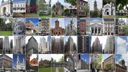 The 40 individual landmarks designated by the New York City Landmarks Preservation Commission in 2016