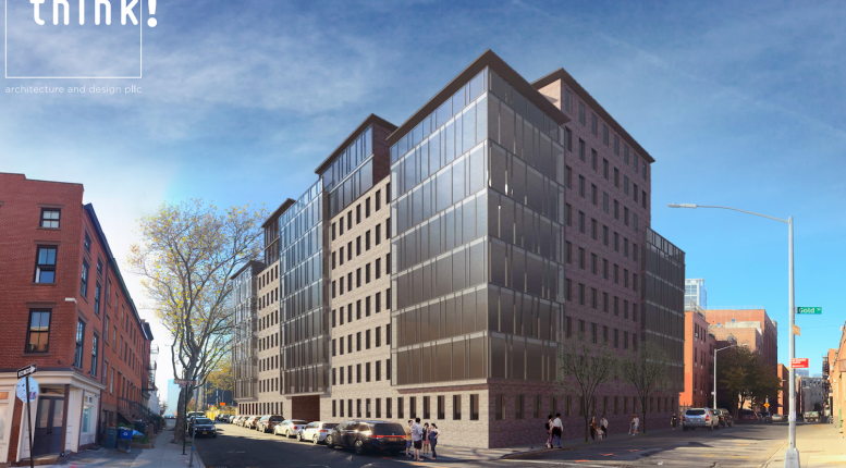 Previous rendering of 251 Front Street aka 68 Gold Street - Think Architecture & Design