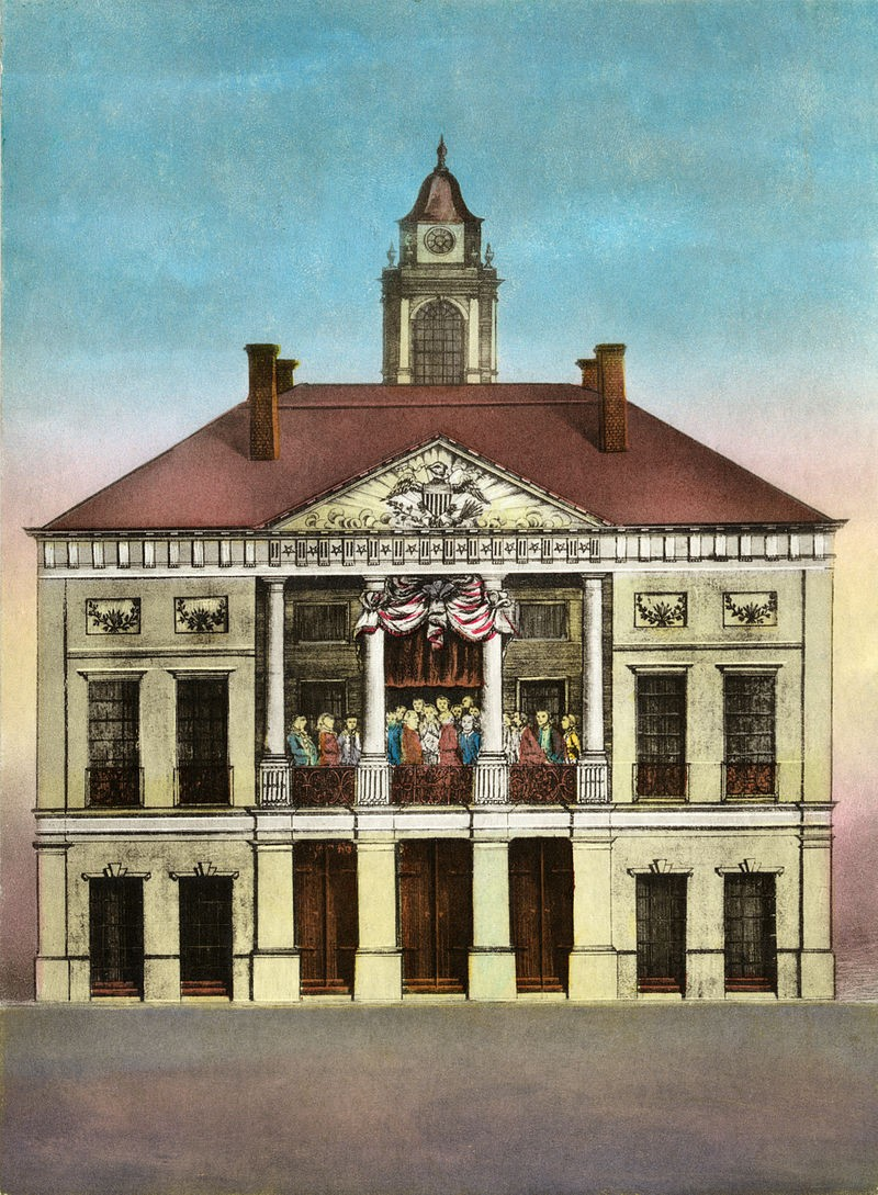 The old Federal Hall in New York. Credit: Mount Vernon