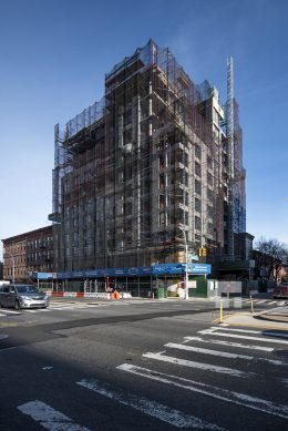 Construction at the Baltic Park Slope in December of 2016. Photo by Tectonic for YIMBY
