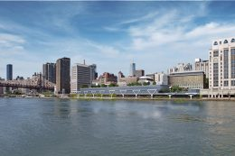 Rendering of the Rockefeller University expansion along the East River. Credit: Rockefeller University.