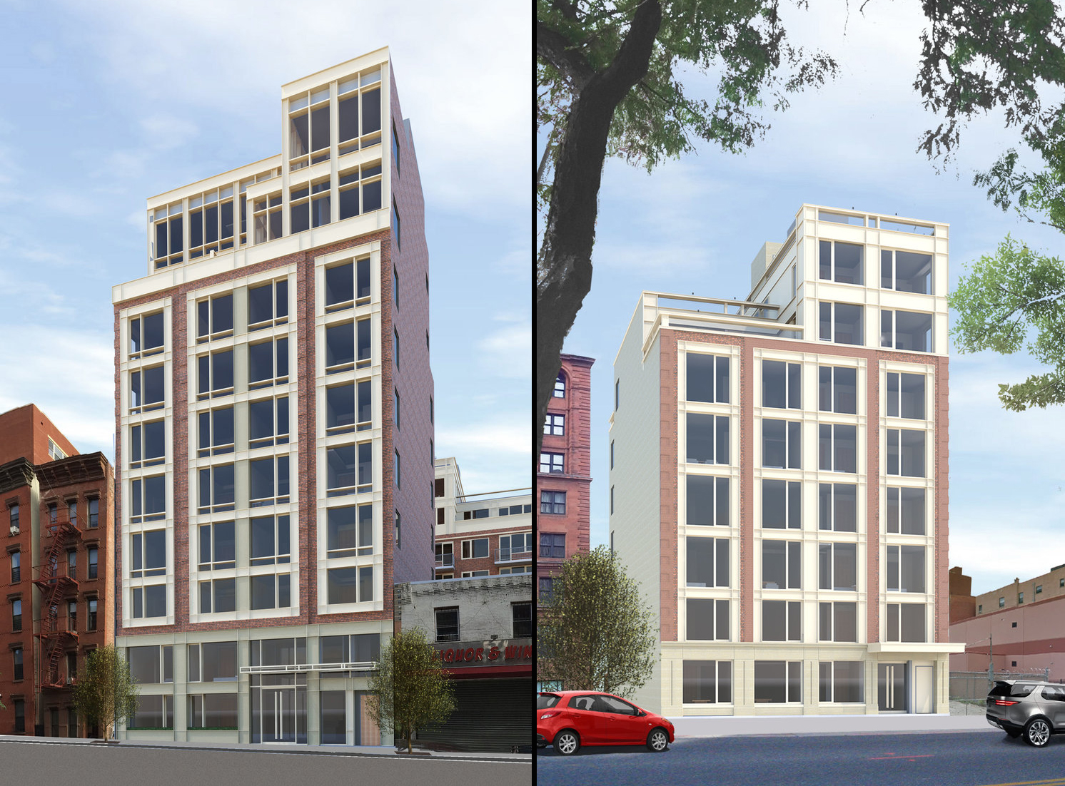 305 West 128th Street/304 West 129th Street, image via Kutnicki Bernstein Architects