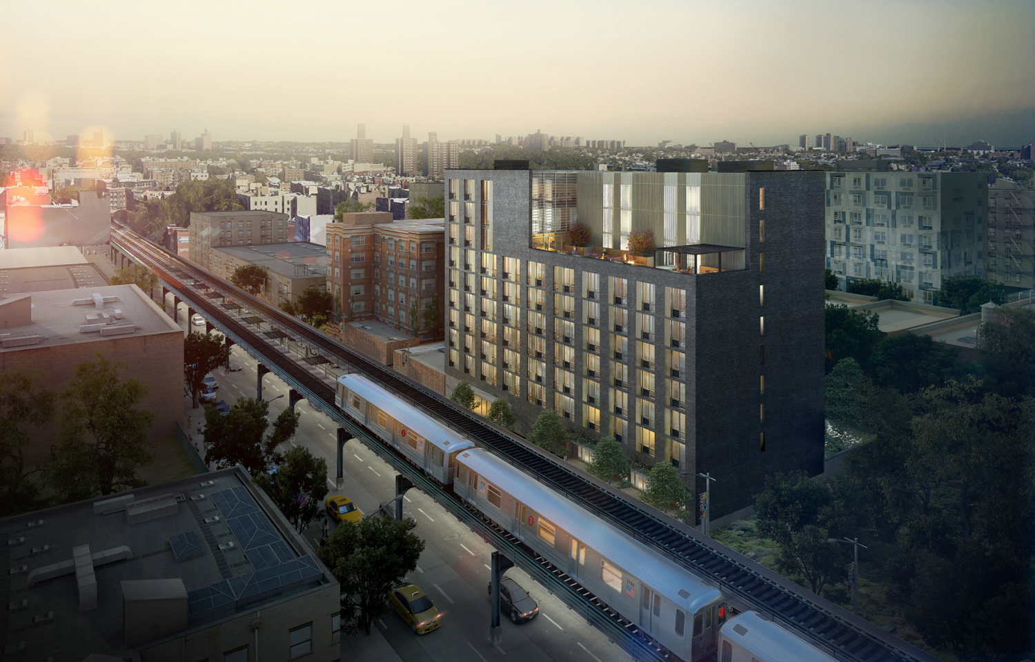 1490 Southern Boulevard, rendering by Bernheimer Architecture