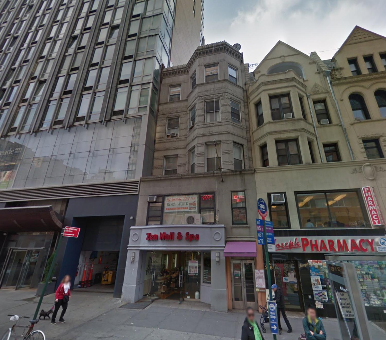 214 West 72nd Street, via Google Maps