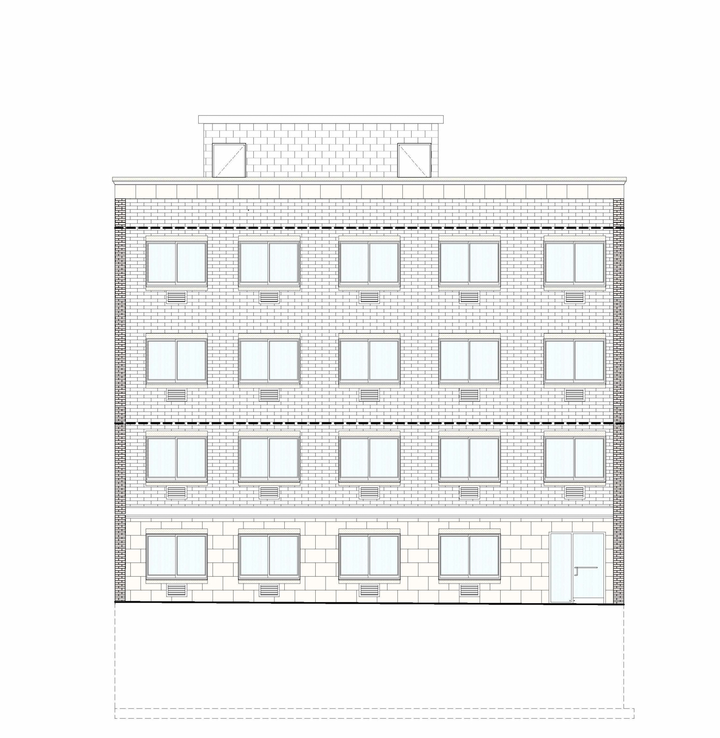 909 East 229th Street, elevation by Badaly Architects