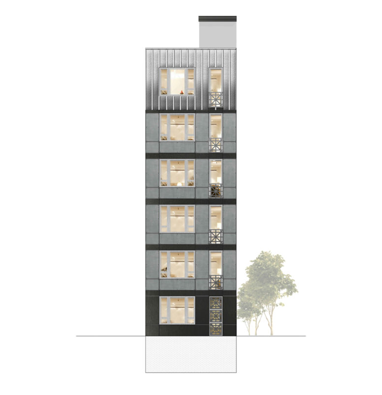 110 West 123rd Street, rendering by Shahrish