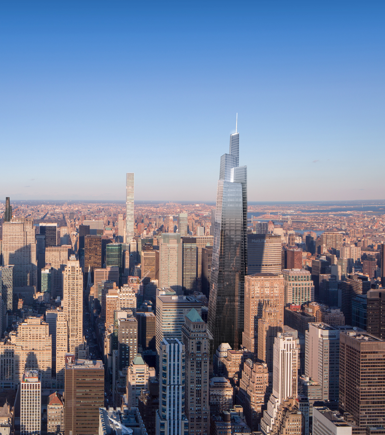 One Vanderbilt, photo by Andrew Nelson rendering by Jose Hernandez