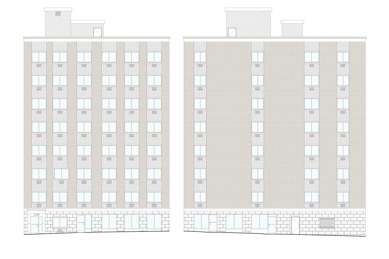 1228 Washington Avenue, rendering by Badaly Architects