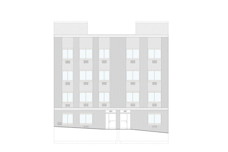 3315-3317 Parkside Avenue, rendering by Badaly Architects