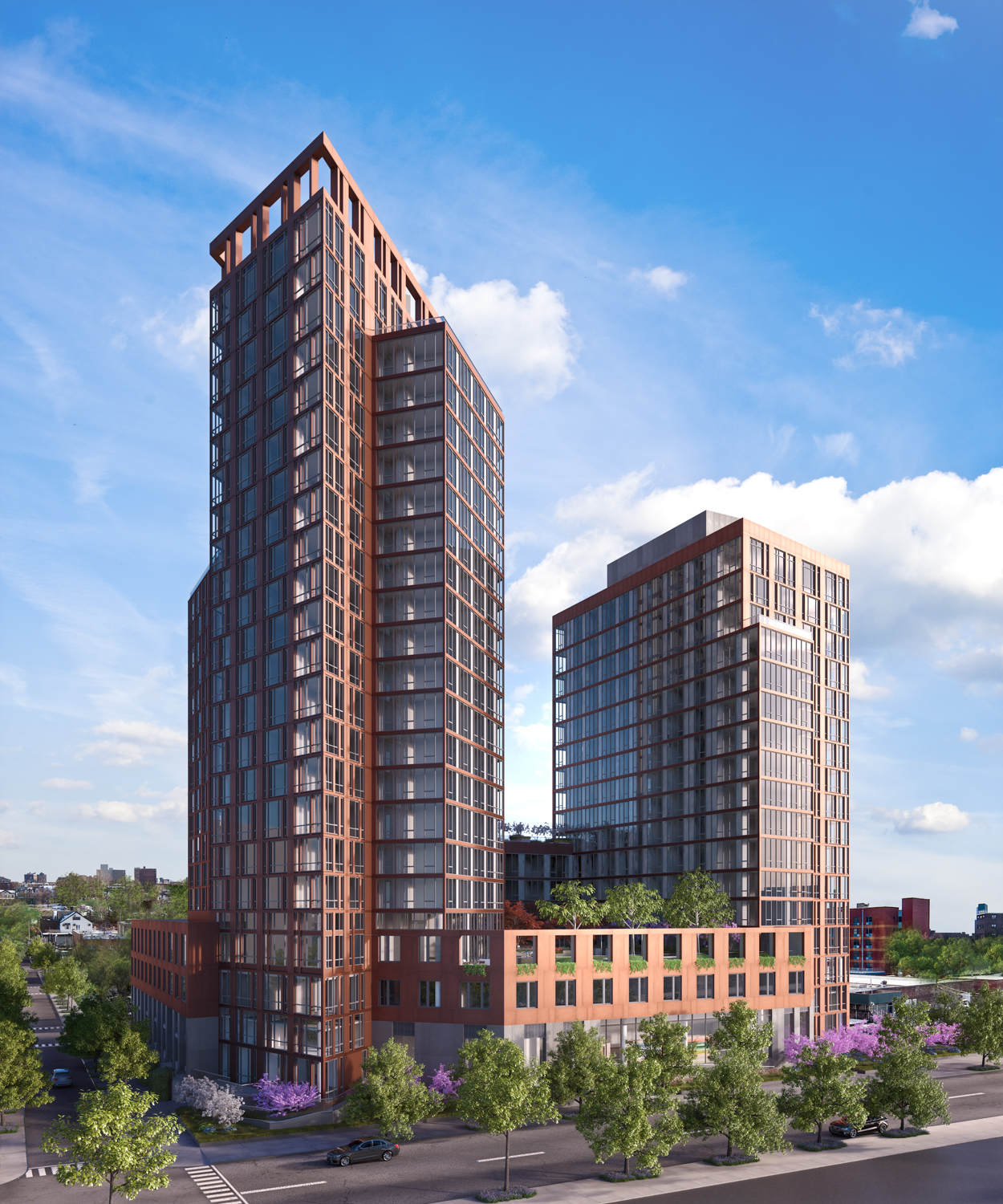 10 Halletts Point Hero View, rendering courtesy the Durst Organization