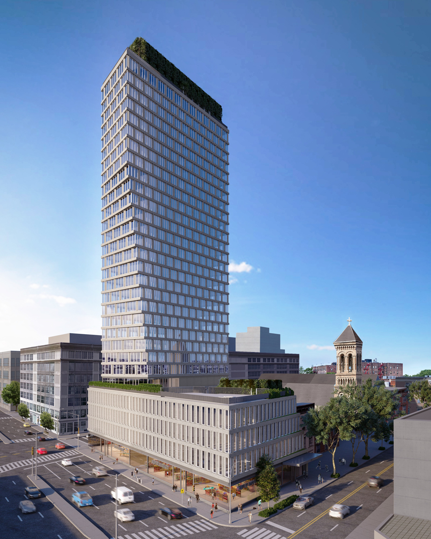 550 Clinton Avenue, rendering by Morris Adjmi Architects