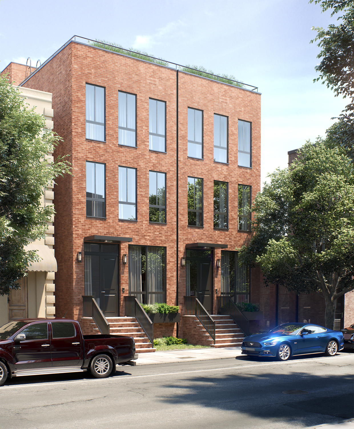 85-87 Calyer Street rendering, design by Design Studio Associates