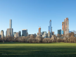 Central Park South skyline from across Sheep Meadow, image by Andrew Campbell Nelson