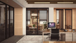 Office space in 107 North 1st Street, rendering by Melamed Architects