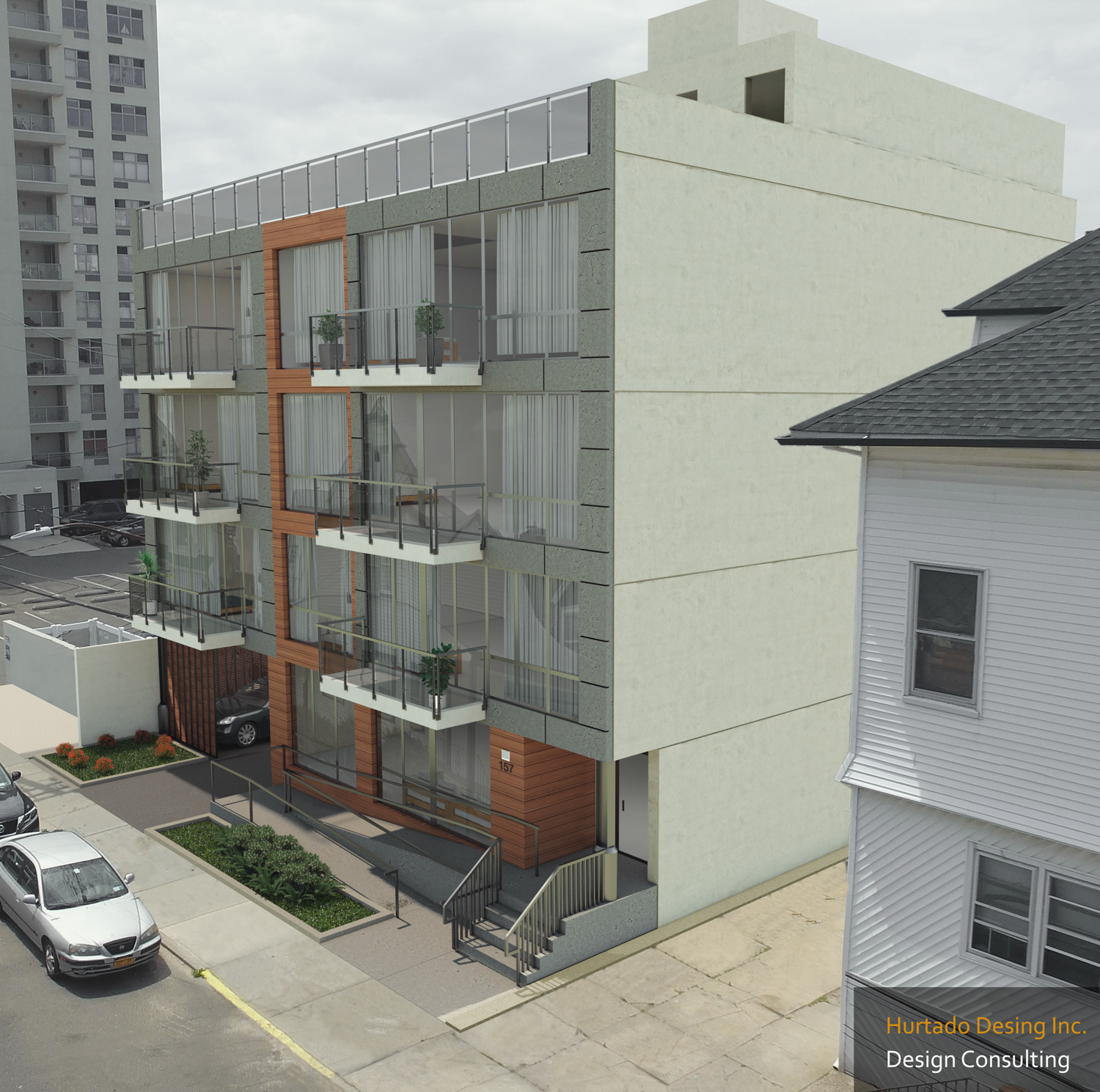 157 Beach 96th Street, rendering by Monica Hurtado Assoc AIA