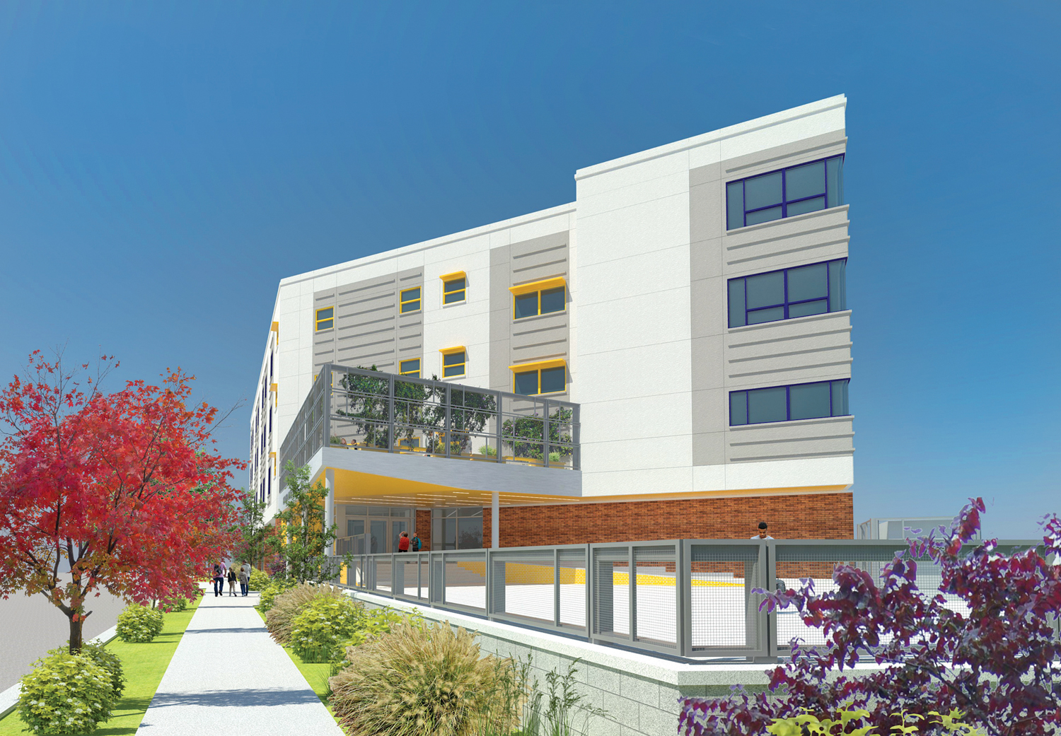 BelovED Middle School, rendering courtesy of Urbahn Architects