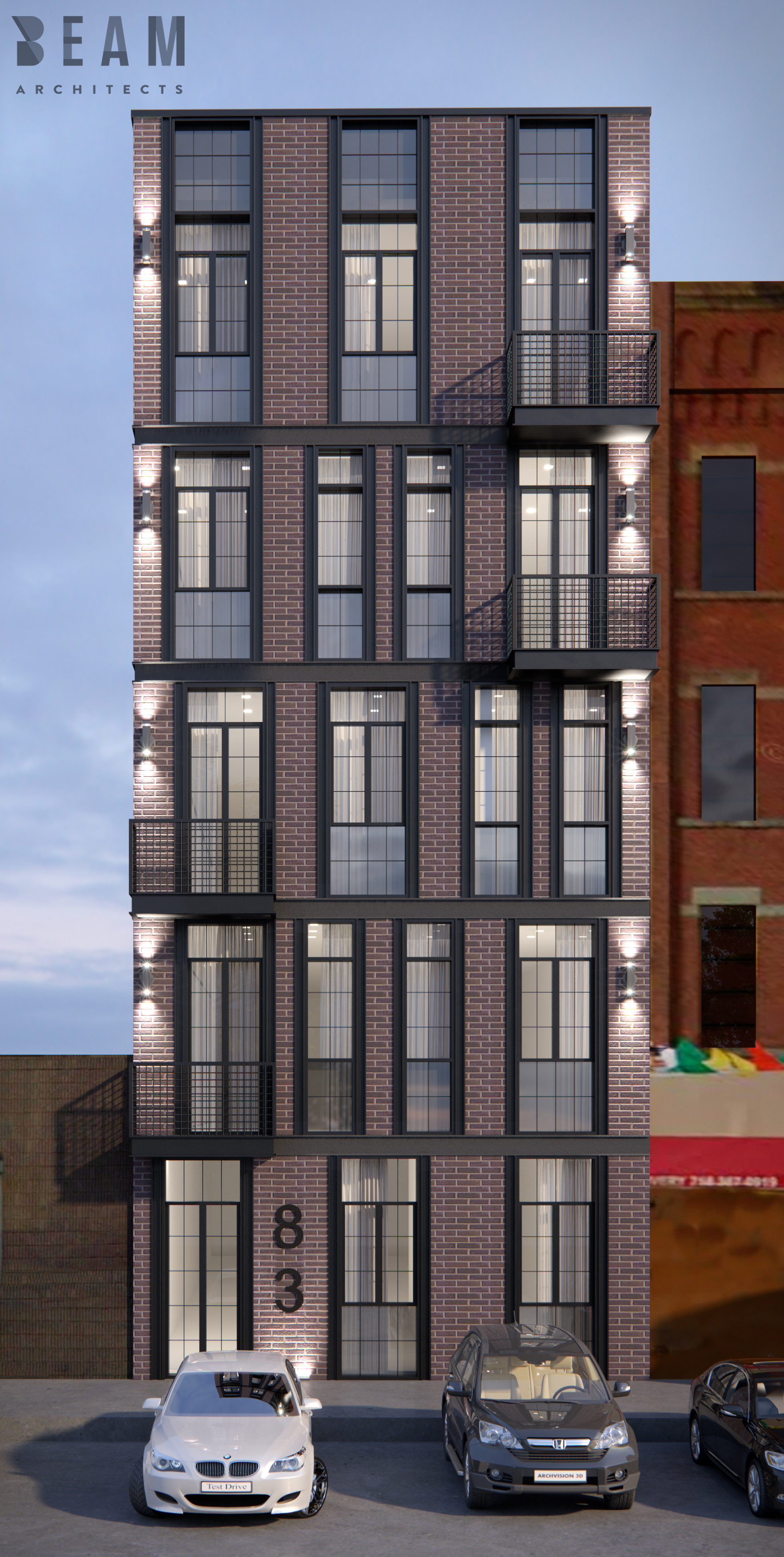 83 Humboldt Street, rendering via J Goldman Design