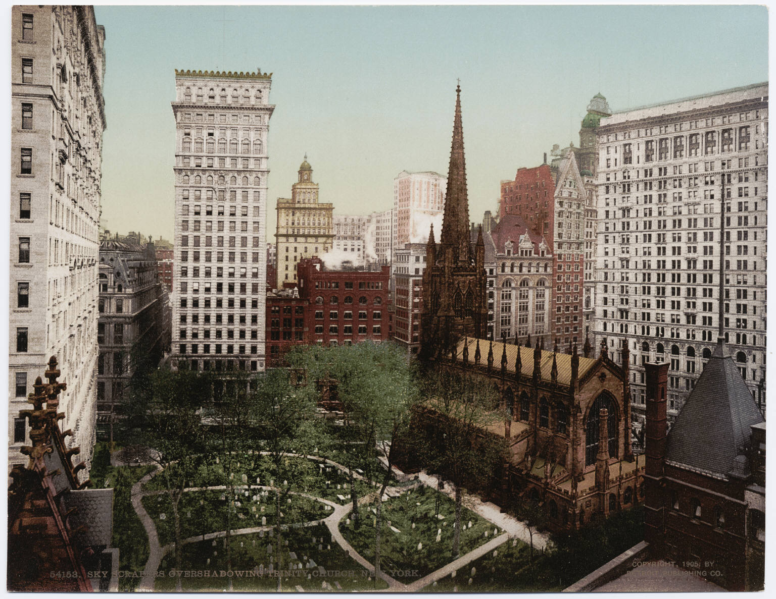 Trinity Church and grounds, image circa 1900's by the Detroit Photographic Company