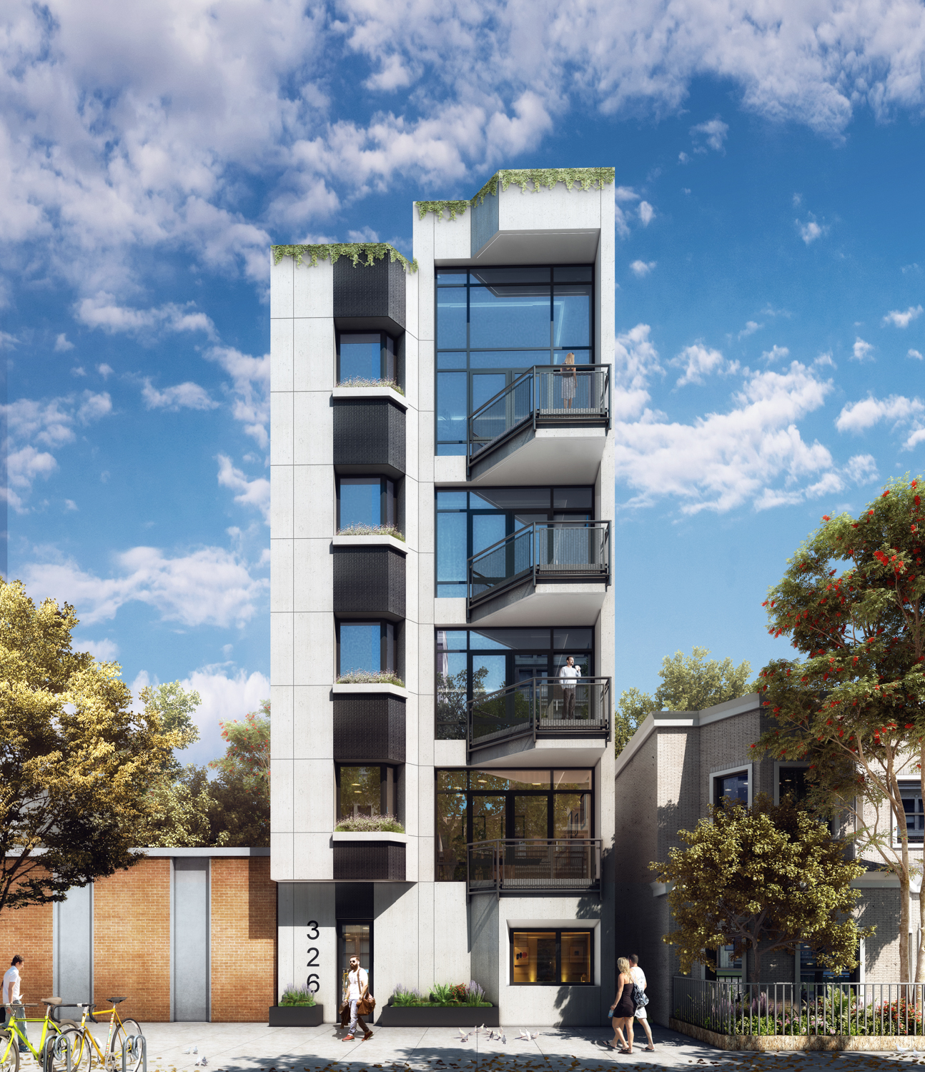326 Avenue U, rendering by IMC Architecture