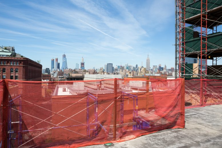 Looking toward Midtown from the 11th Floor terrace at 90 Morton Street, image by Andrew Campbell Nelson