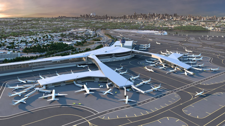 Rendering of the newly expended LaGuardia Airport