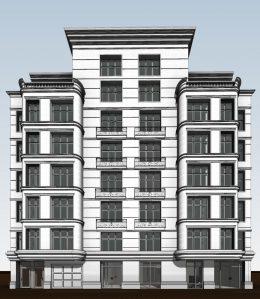 333 East 82nd Street frontal view, rendering courtesy Zproekt