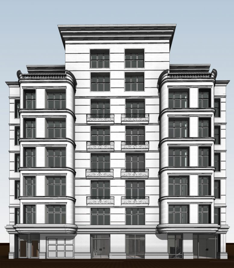 333 East 82nd Street frontal view, rendering courtesy Zproekt
