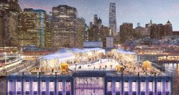 Pier 17 Winter Village Proposal, rendering by Visual House