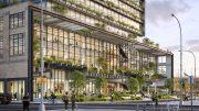 Rendering of 550 Washington Street (© COOKFOX Architects)