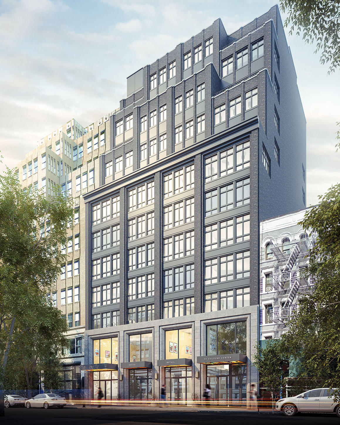 335 West 35th Street, rendering by Issac and Stern Architects
